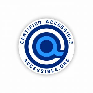 accessible.org certified accessible logo and official seal