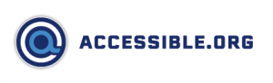 accessible.org iconic logo with letter logo